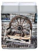 Wagon Wheel Chair Duvet Cover