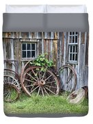 Wagon Wheels In Color Duvet Cover by Crystal Nederman