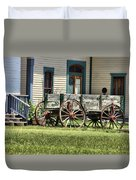 Wagon Wheels In Dodge City Duvet Cover