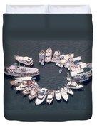 Wagonwheel Wedding Raftup Duvet Cover