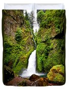 Wahclella Falls In Oregon Duvet Cover
