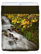 Wahkeena Falls At Columbia River Gorge In The Fall Duvet Cover