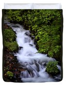Wahkeena Falls In Oregon Duvet Cover