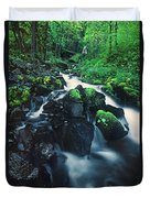 Wahkeenah Falls Columbia River Gorge Nsa Oregon Duvet Cover