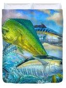 Wahoo Mahi Mahi And Tuna Duvet Cover by Terry  Fox