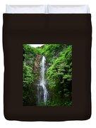 Waikani Falls At Wailua Maui Hawaii Duvet Cover
