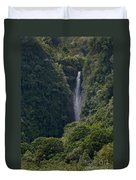 Wailua Stream Waiokane Falls View From Wailua Maui Hawaii Duvet Cover