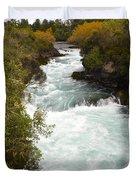 Waikato River Huka Falls Duvet Cover