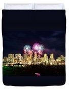 Waikiki Fireworks Celebration 2 Duvet Cover