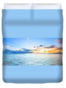 Waikiki Sunset After An Afternoon Thunderstorm Duvet Cover