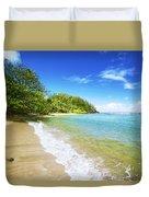 Waikoko Beach Shore Duvet Cover