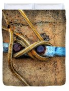 Waiting - Boat Tie Cleat By Sharon Cummings Duvet Cover