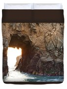 Waiting For Godot - Arch Rock In Pfeiffer Beach In Big Sur. Duvet Cover