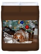 Waiting For Santa Duvet Cover