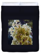 Waiting For Spring - Ice Storm - Closeup Duvet Cover