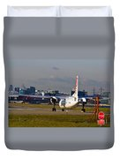 Waiting For Take-off  Duvet Cover