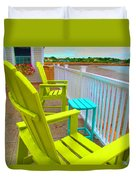 Waiting For Tide And Sunset Duvet Cover