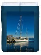 Waiting For Warmer Weather At The Dock Duvet Cover