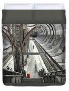 Waiting - Hollywood Subway Station. Duvet Cover