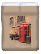 Waiting On A Call Duvet Cover by Mike McGlothlen