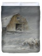 Waiting Out The Storm Duvet Cover