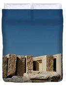 Waiting Tablets At Acropolis Duvet Cover