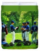Waiting To Go To Bat Duvet Cover