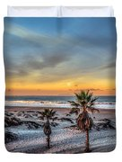 Wake Up For Sunrise In California Duvet Cover