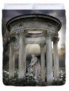 Wake Up My Sleepy White Roses - Sunlight Version Duvet Cover