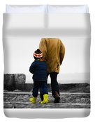 Walk Alongside Me Daddy Duvet Cover