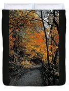 Walk In Golden Fall Duvet Cover