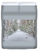 Walk In Snowy Woods Duvet Cover