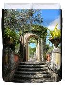 Walk In Vizcaya Gardens Duvet Cover