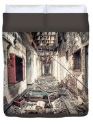 Walk Of Death - Abandoned Asylum Duvet Cover by Gary Heller