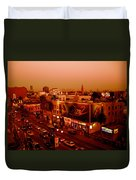 Walk Of Fame Hollywood In Orange Duvet Cover
