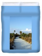 Walk Way To Beach Duvet Cover by Kathleen Struckle
