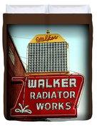 Walker Radiator Works Sign Duvet Cover