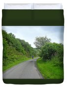 Walking A Lonely Road Duvet Cover