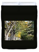 Walking Down Senators Highway Duvet Cover