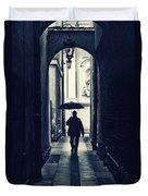 Walking In The Rain Duvet Cover