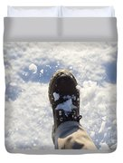 Walking In The Snow Duvet Cover