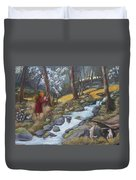 Walking In The Woods One Day Duvet Cover
