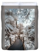 Walking Into The Infrared Jungle 3 Duvet Cover