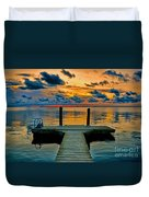 Walking Into The Sunset Duvet Cover