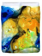 Walking On Sunshine - Abstract Painting By Sharon Cummings Duvet Cover