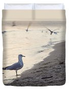 Walking On The Beach Duvet Cover