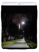 Walking Path Along The Reflecting Pool Duvet Cover