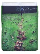 Walking The Path Less Traveled Duvet Cover