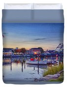 Walking To Town Duvet Cover