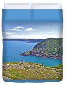 Walking Trails Everywhere In Signal Hill National Historic Site In St. John's-nl  Duvet Cover